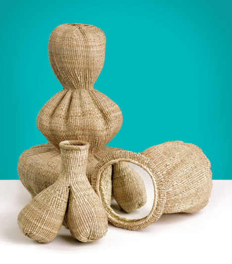 Matali Crasset presents woven vessels  in collaboration with Zimbabwean weavers