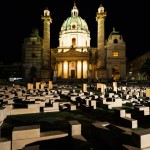 Austrians protest government spending with concrete model city