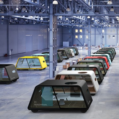 IDEO envisions a future where self-driving workplaces commute to you