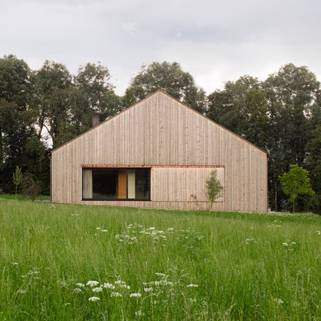 Bernardo Bader sources wood from a local forest to build barn-like house in rural Austria