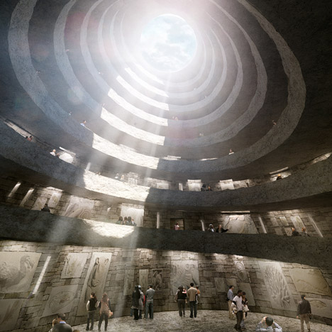 Construction starts on David Adjaye's spiralling stone extinction memorial