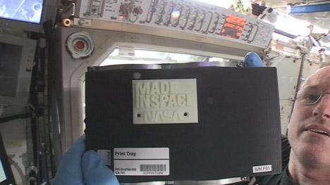 NASA 3D prints aboard the International Space Station