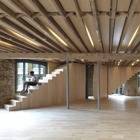 Amin Taha Architects peels back layers of plasterboard to create open-plan offices