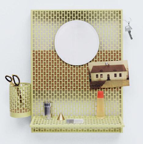Inga Sempé's modular pinboard for Hay tidies away small items