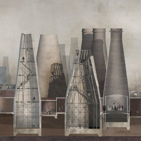 Pottery towers refurbishment proposal by Olivia Wright