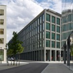 Zurich office block by Max Dudler features a gridded granite facade