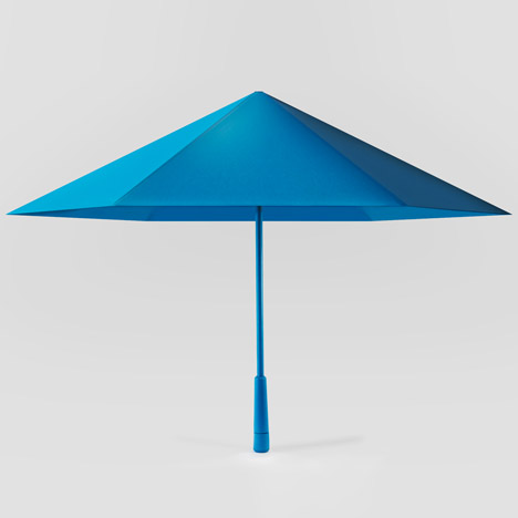 "Origami-influenced umbrella ""bounces back into shape"" after blowing inside out"
