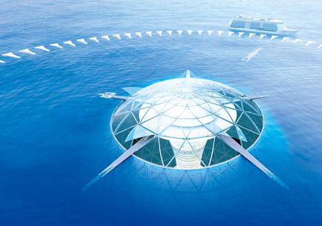 Город под водой Ocean Spiral. Проект Shimizu Corporation