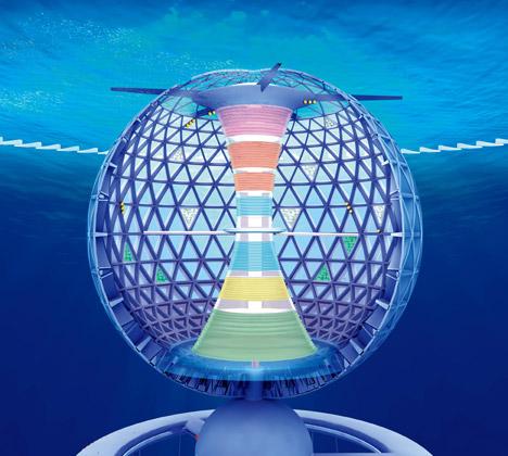 Проект подводного города Ocean Spiral