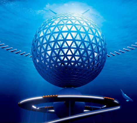 Спиралевидный город под водой Ocean Spiral
