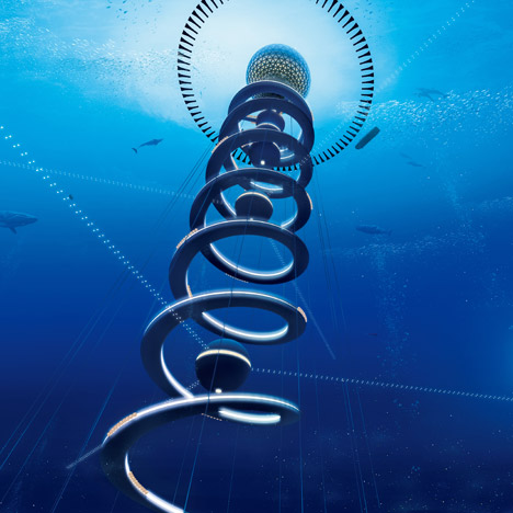 Spiralling underwater cities could make oceans inhabitable by 2030