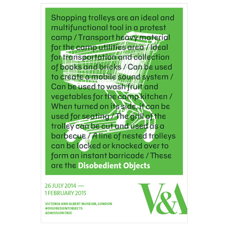 Disobedient Objects poster by Barnbrook Studio