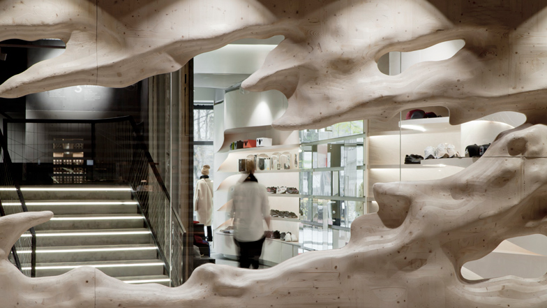 YME Universe concept store in Oslo by Snøhetta