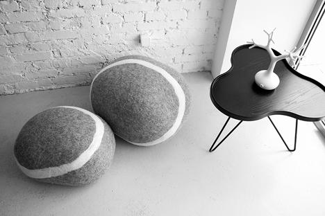 Stone Poufs by Fivetimesone