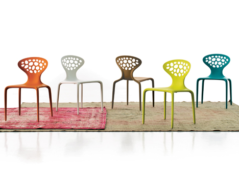 Supernatural chairs by Ross Lovegrove for Moroso