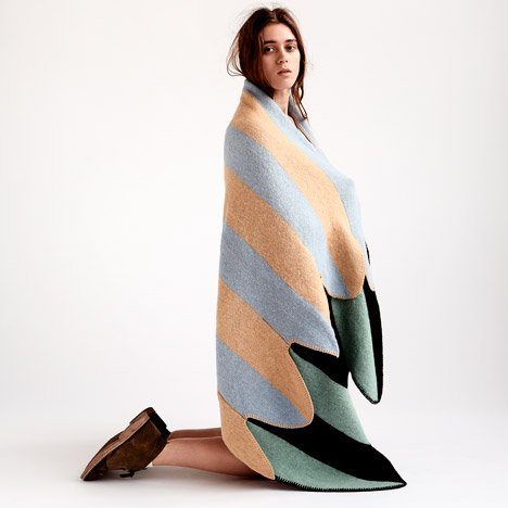 Vík Prjónsdóttir launches latest wing-shaped blankets made from Icelandic wool