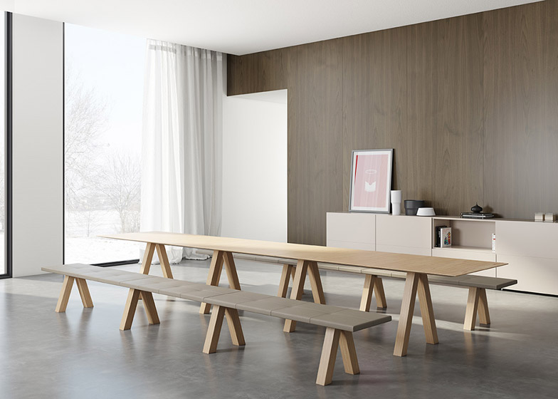 Trestle table by John Pawson