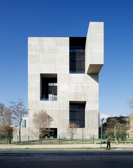 Elemental builds monolithic concrete innovation centre for Innovation windows