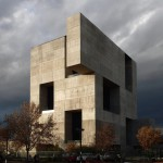 "Giant openings puncture Elemental's ""monolithic"" concrete innovation centre"