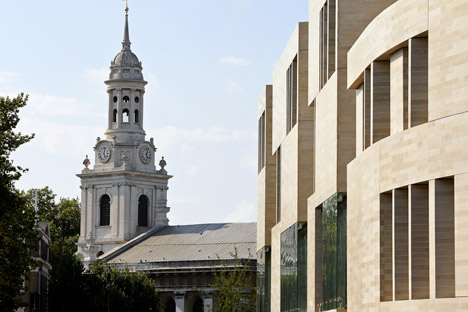 Heneghan Peng's Greenwich architecture school has a restrained exterior and a modern interior