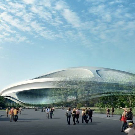Zaha Hadid Architects revised the design of the stadium in 2014 following a budget cut