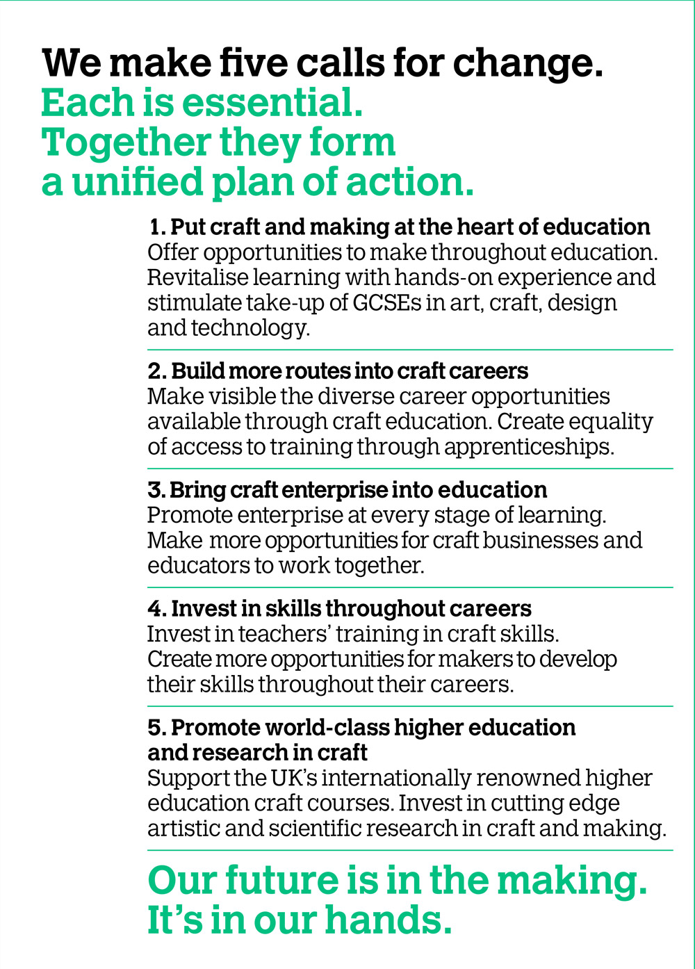 Crafts Council Launches Education Manifesto
