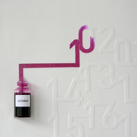 Ink Calendar by Oscar Diaz