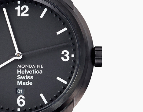 Mondaine Helvetica Bold 43mm in black