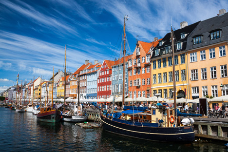 This image: Nyhavn in Copenhagen, Denmark, image courtesy of Shutterstock – top image: the new MINI Hatch