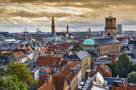 Skyline of Copenhagen, Denmark towards Church of our Lady – image courtesy of Shutterstock