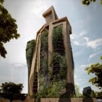 Chunky tower covered in plants proposed for Taiwan's capital