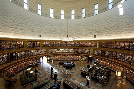 Stockholm Public Library by Gunnar Asplund