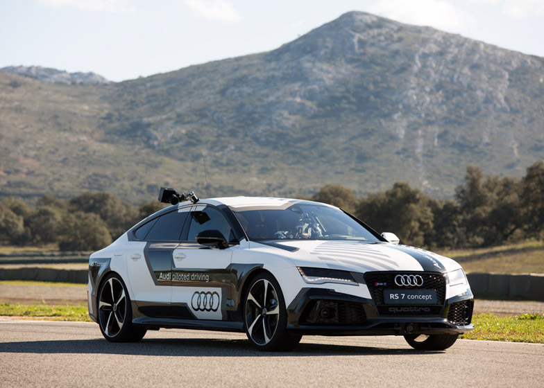 Audi's concept RS 7 driverless car