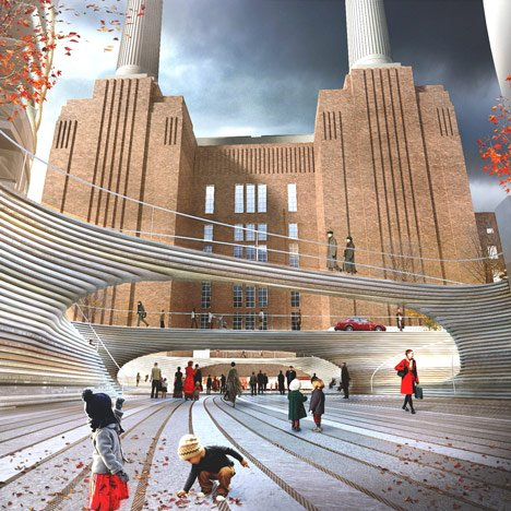 BIG's public square for Battersea Power Station unveiled