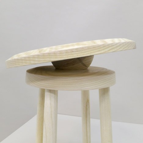 Balance Stool as part of the No Sweat furniture collection by designer Darryl Agawin