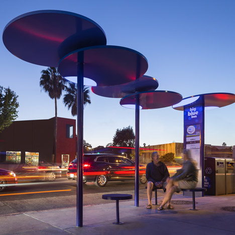 Big Blue Bus Shelters by LOHA