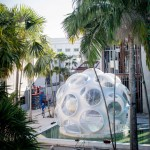 Buckminster Fuller's Fly's Eye Dome installed in Miami Design District