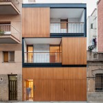 Alventosa Morell slots a four-storey house between two blocks in Barcelona