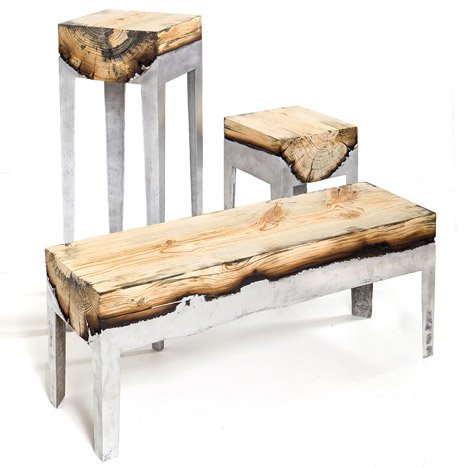 furniture made from tree trunks. Cast Aluminum And Tree Trunk Furniture By Hilla Shamia Studio Made From Trunks D