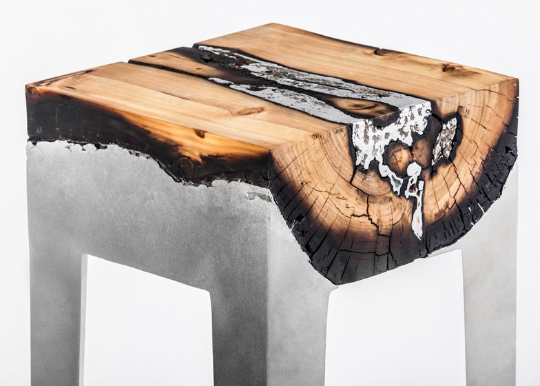 Cast Aluminum and Tree Trunk Furniture by Hilla Shamia Studio