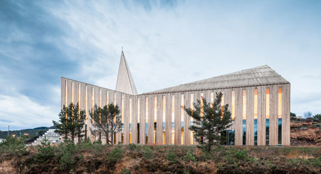 Community Church, Knarvik by Reiulf Ramstad