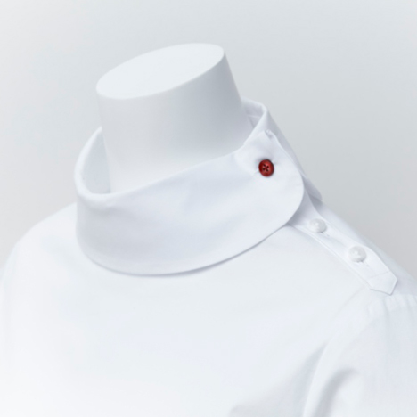 Nendo twists traditional details to enliven simple white shirts