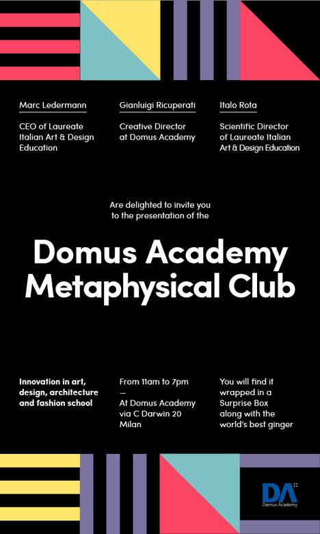 Domus Academy launches salon-style teaching system