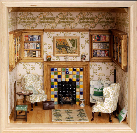Library (A Recent Plan) by Liberty Art Fabrics Interiors
