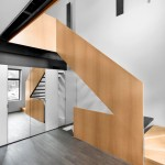 Naturehumaine includes ribbon-like staircase in refurbished Montreal residence