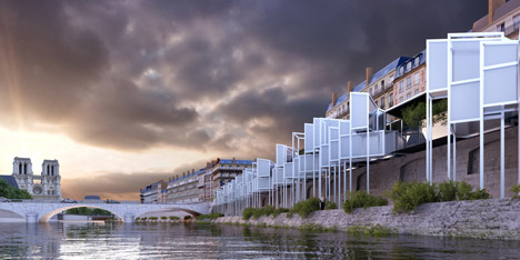 Eauberge Paris Capsule Hotel by Menomenopiu Architects