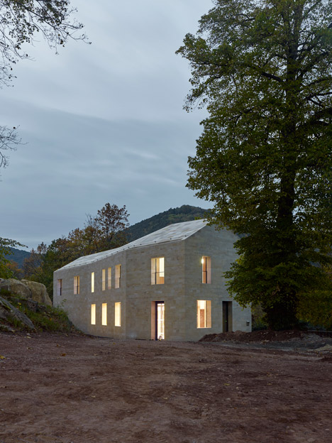 Entrance building for Hambach Castle by Max Dudler