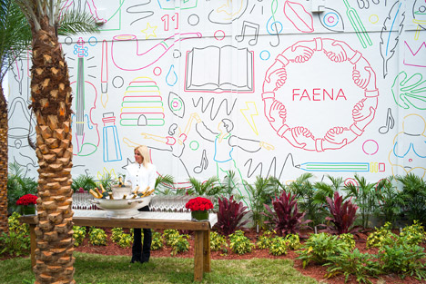 Hoardings by Studio Job at the Faena Miami Beach development