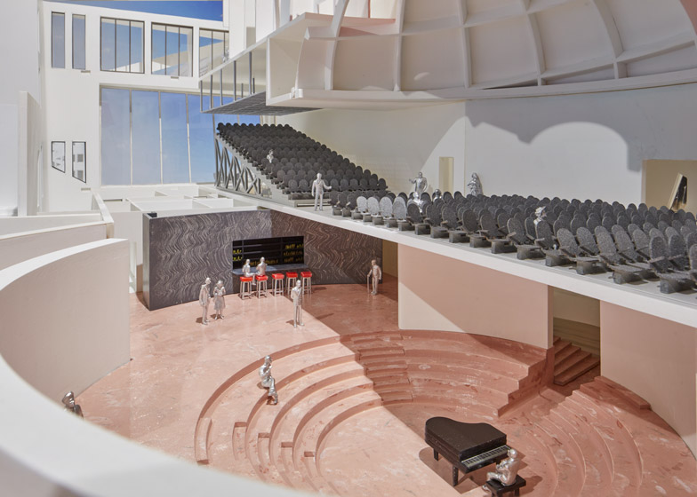 New models and renderings of Rem Koolhaas' Faena Forum at Design Miami 2014