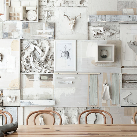 Animal bones adorn the walls of&ltbr /&gt Hueso Restaurant in Mexico